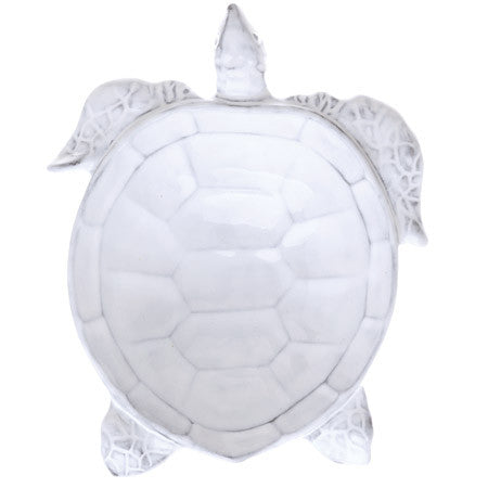 Vietri Incanto Mare White Turtle Salad Plate Set