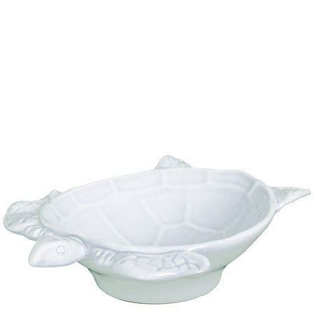 Vietri Incanto Mare White Small Turtle Bowl