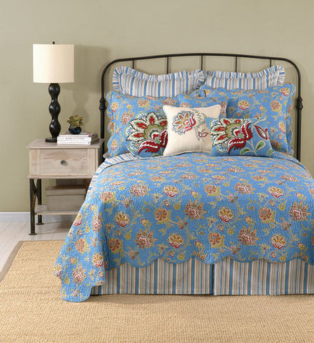 Jacobean Blue Quilt