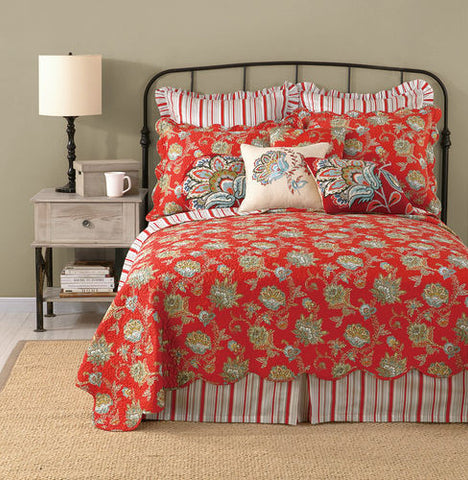 Jacobean Red Quilt