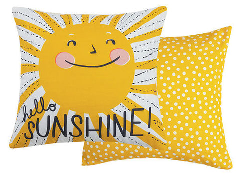 Hello Sunshine Printed Pillow