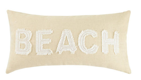 Beach Applique Pillow