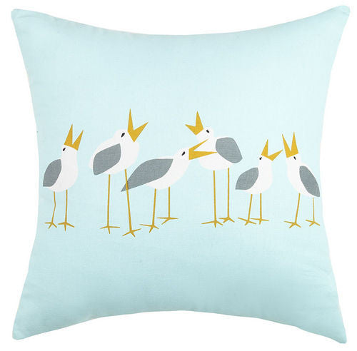 Seagulls Printed Pillow