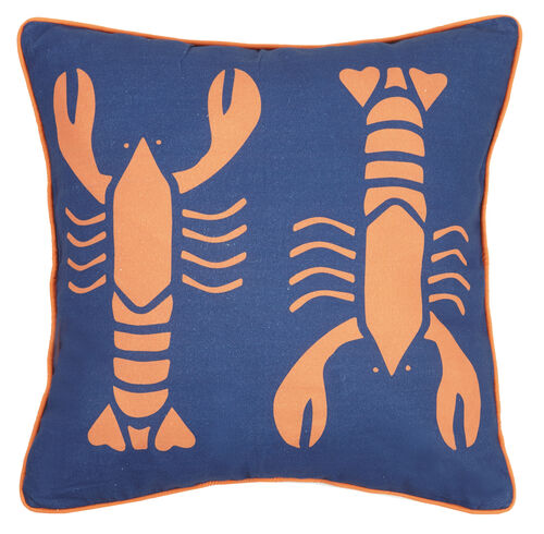 Hot Lobster Printed Pillow