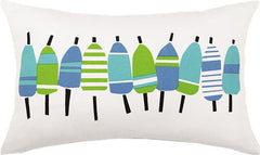 Blue Buoys Printed Pillow