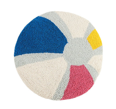 Beach Ball Round Hook Pillow
