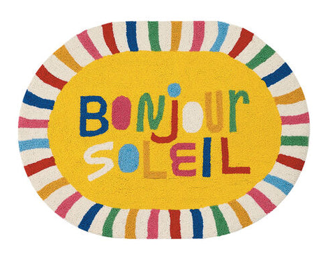 Bonjour Oval Shaped Hook Rug