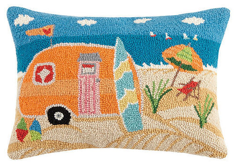 Beach Caravan Hook Pillow