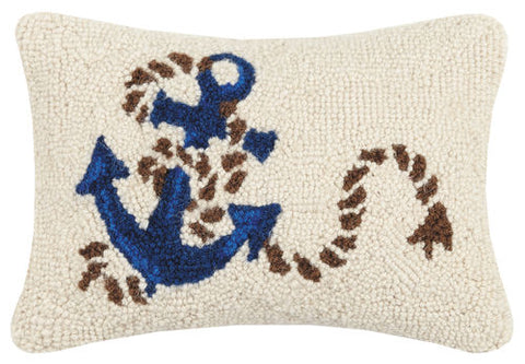 Anchor and Rope Hook Pillow