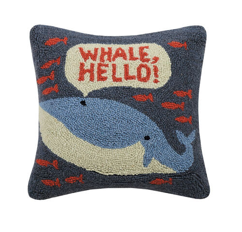 Whale Hello Hook Pillow