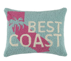 West Coast Best Coast Hook Pillow