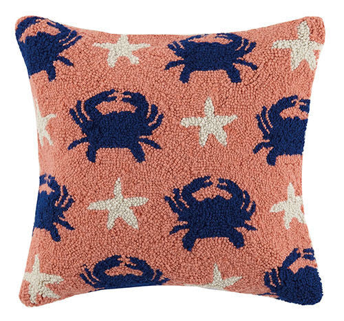 Crab Starfish Repeat Hook Pillow