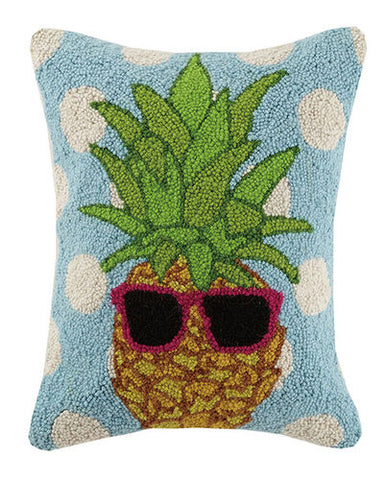 Polka Dot Pineapples Hook Pillow