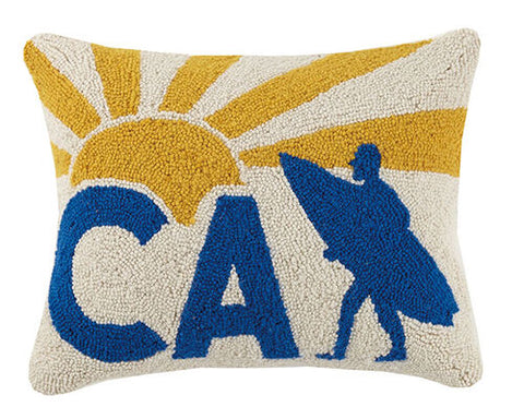Surfer California Hook Pillow