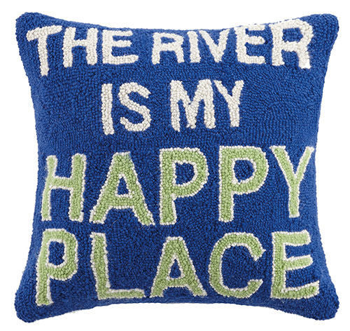 The River Is My Happy Place Hook Pillow