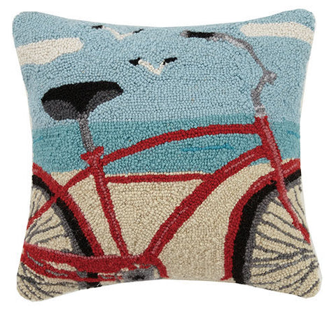 Beach Bike Cropped Hook Pillow 16