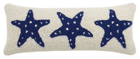 Starfish Trio Hook Pillow