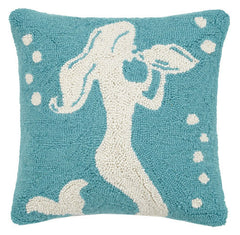 Conch Shell Mermaid Hook Pillow