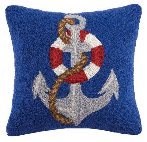 Life Saver Anchor Hook Pillow