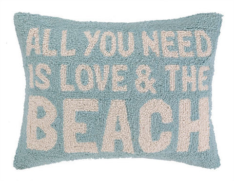 All You Need Is Love and the Beach Hook Pillow