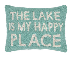 The Lake Is My Happy Place Hook Pillow