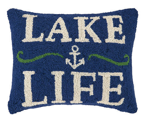 Lake Life With Anchor Hook Pillow
