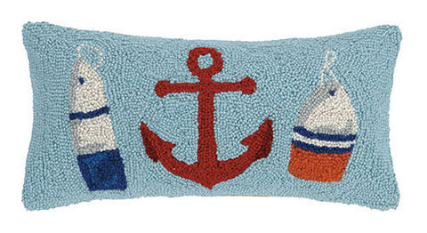 Anchor And Buoy Hook Pillow