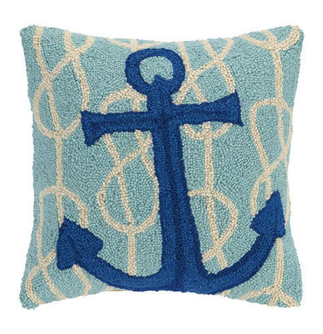 Nautical Knot Anchor Hook Pillow