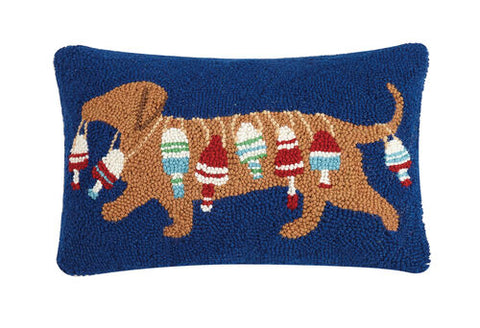 Dachshund with Buoy Hook Pillow