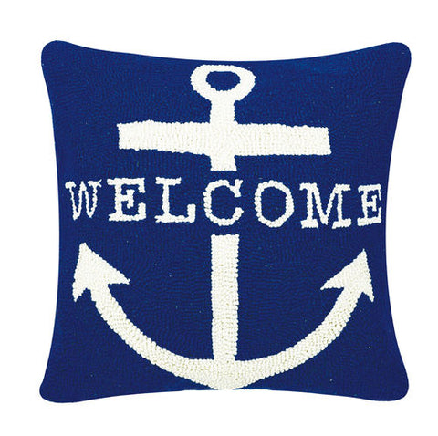 Welcome Anchor Hook Pillow