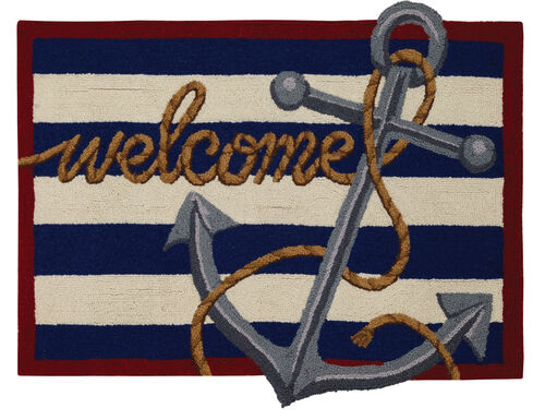 Welcome Anchor Hook Rug