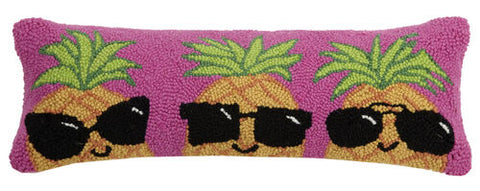 Pineapples with Shades Hook Pillow