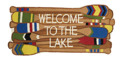 Welcome to the Lake Shaped Hook Rug