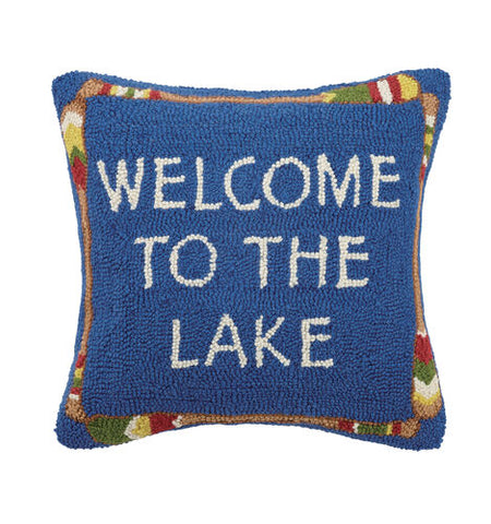 Welcome to the Lake Hook Pillow