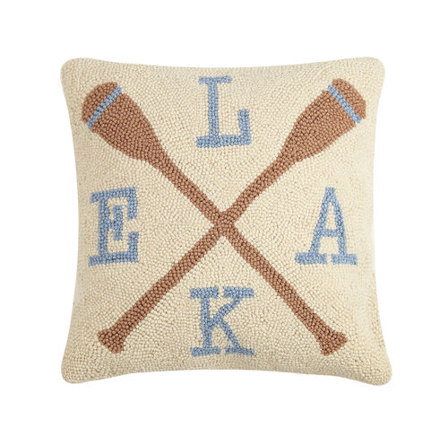 Lake Oars Hook Pillow