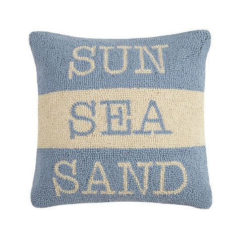 Sun Sea Sand Hook Pillow