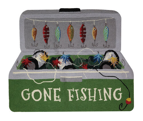Gone Fishing Shaped Hook Rug
