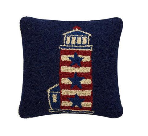Americana Lighthouse Hook Pillow