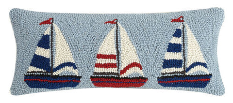 Sailboat Trio Hook Pillow