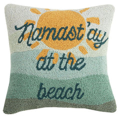 Namastay At The Beach Hook Pillow