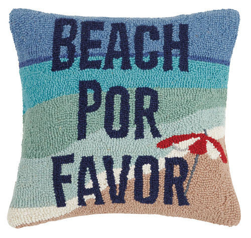 Beach Por Favor Hook Pillow