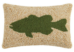Large Mouth Bass Hook Pillow