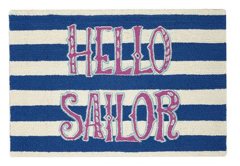 Hello Sailor Hook Rug