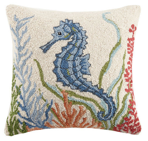 Blue Seahorse Hook Pillow
