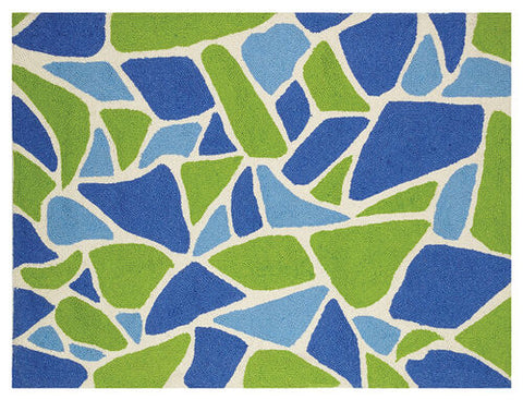 Sea Glass Hook Rug