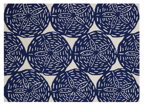 Sand Dollar Navy Hook Rug