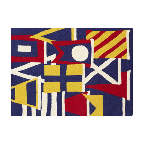 Signal Flag Yacht Club Hook Rug