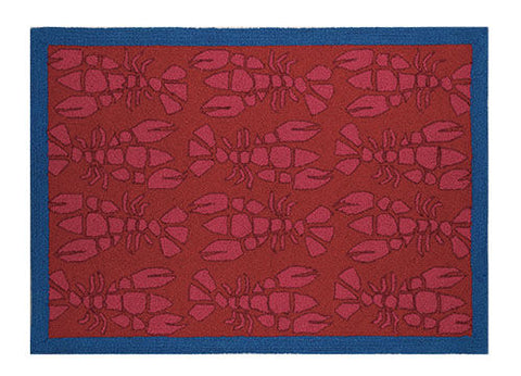 Pink Lobster Hook Rug