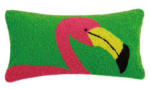 Bright Flamingo Hook Pillow