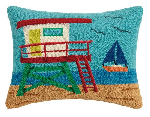 Lifeguard House Hook Pillow